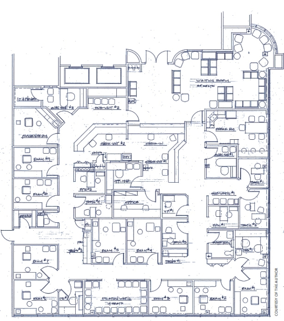 Ophthalmology management six keys to building the for Office room layout design