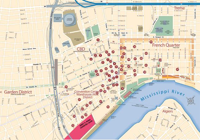 New Orleans Garden District Hotel Map Best Idea