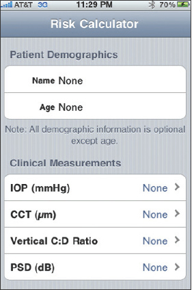 Ophthalmology Management - Glaucoma Risk Calculators: Adding Up An