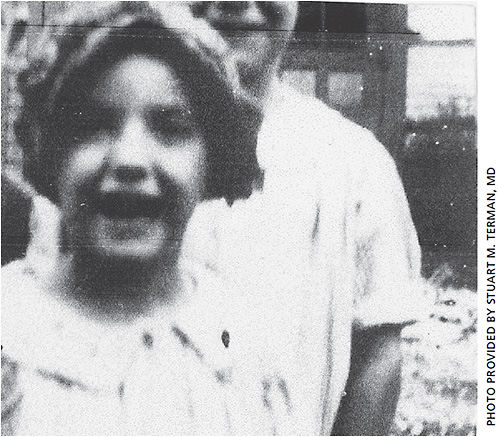Dr. Terman's mother, Mildred, as a child in Cleveland.