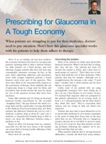 Prescribing for Glaucoma in A Tough Economy