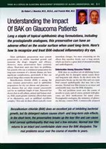 Understanding the Impact of BAK on Glaucoma Patients