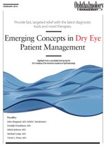 Emerging Concepts In Dry Eye Patient Management